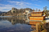 View of Bled Lake — Stockfoto