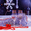 Christmas still life with champagne — Stock Photo #62075875