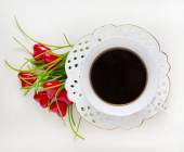 Cup of coffee, valentine — Stockfoto