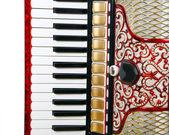 Frammento della fisarmonica — Foto Stock