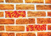 Mauer, Ziegel — Stockfoto