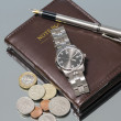 Wrist Watch. notebook. close — Foto de Stock   #73886409