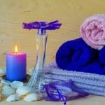 Soap, candle, perfume — Stock Photo #75352661