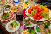 Festive table — Stock Photo