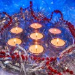 Christmas, festive candles, wallpaper. — Foto Stock #79245170