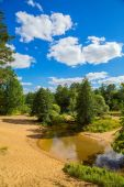 Andscape with river — Stock Photo