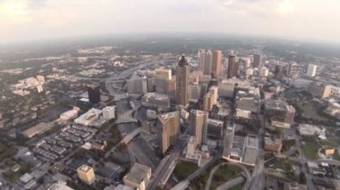 Atlanta city aerial over downtown — Stock Video