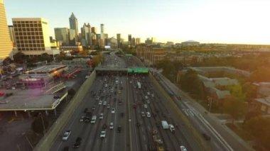 Atlanta cityscape aerial — Stock Video