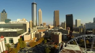 Atlanta aerial with cityscape view — Stock Video