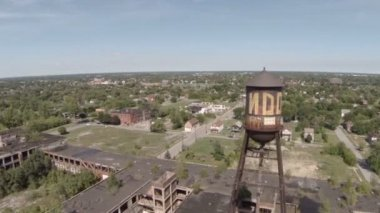 Abandoned Packard Automotive Plant — Stock Video