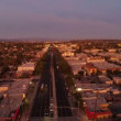 LA aerial over Venice Blvd at sunset. — Stock Video #63012101