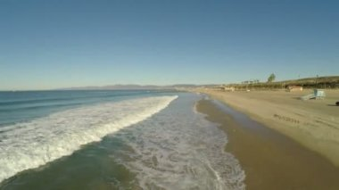 LA aerial along Dockweiler beach. — Stockvideo