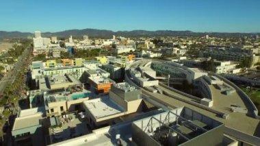 Flying over Santa Monica — Vídeo stock