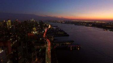 黄昏的新泽西城市风景. — 图库视频影像