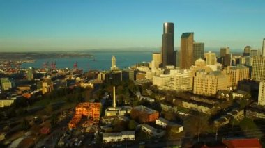 Seattle Aerial — Stock Video