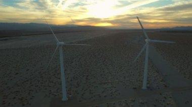 Wind Turbine Aerial — Stock Video