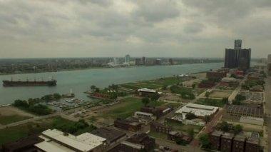 Detroit antenne — Stockvideo