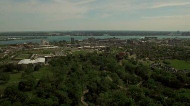 Detroit Aerial — Stock Video