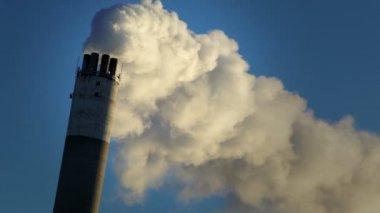 Vapor from chimney — Stock Video