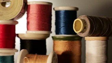 Reels of thread — Stock Video