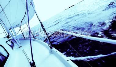 Sailingboat — Stock Video