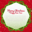 Merry Christmas background with xmas tree frame — Stock Vector #60968795