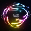 Shining Neon Lights Like Meteors in Sphere — Stock Vector #60968919