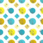 Music flat line retro seamless pattern — Stock Vector #60969205