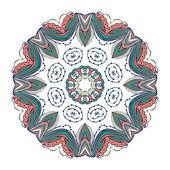 Abstracte gekleurde Snowflake — Stockvector