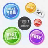Modern round buttons — 图库矢量图片