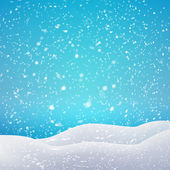 Snowfall and drifts — Stock Vector