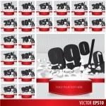 Black collection discount  5  10 15 20 25 30 35 40 45 50 55 60 6 — Stock Vector #65310417
