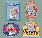 Turkey vintage labels — Stock Vector