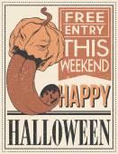 Halloween Poster. Vector illustration. — Stock Vector