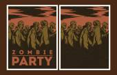 Zombie party invitation. — Stock Vector