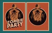 Zombie party invitation. — Wektor stockowy