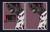 Zombie party invitation. — Vetorial Stock