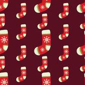 бесшовный рождественский векторный фон иллюстрации — Cтоковый вектор