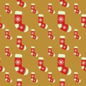 Seamless christmas vector illustration background — Stockvektor