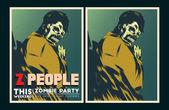 Zombie party invitation. — Stock Vector