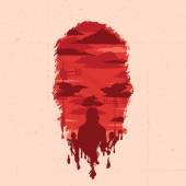Vector illustration. Zombie head silhouette — Stock Vector