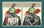 Zombie party invitation template. — Stockvektor