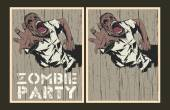 Zombie party invitation template. — Stock Vector