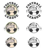 Set of vector football labels and badges. — Stock Vector