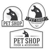 Vintage insignias and logotypes set. — Vecteur