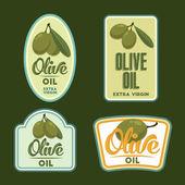 Set of vector Olive oil badges. — Cтоковый вектор