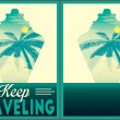 Keep traveling poster collection — Stock Vector #79869628