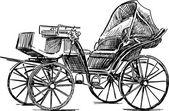 Alte Pferdekutsche — Stockvektor