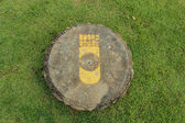 Buddha s footprint in Thailand — Stock Photo