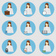 Business Woman Icons — Stock Photo #80622828